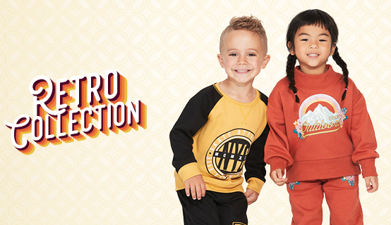 Kids retro fleece clothes