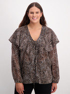 Womens Plus Ruffled Blouse