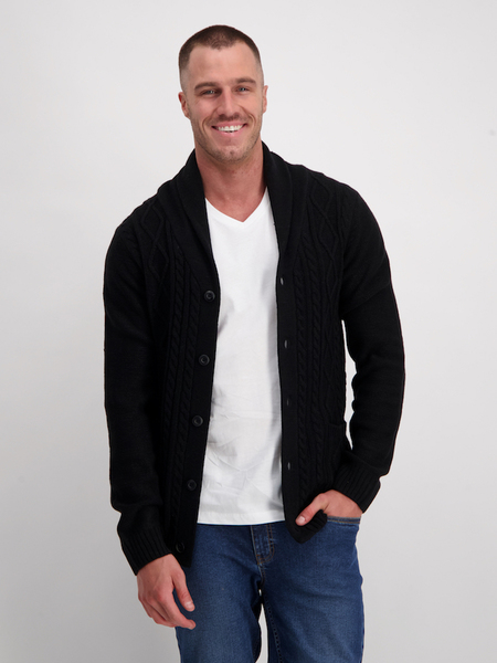 Mens Cable Knit Cardigan