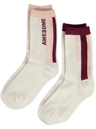 Girls 2 Pack Crew Socks