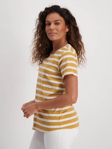 Womens Stripe Cotton Tee