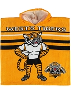 Tigers NRL Youth Hooded Beach Towel