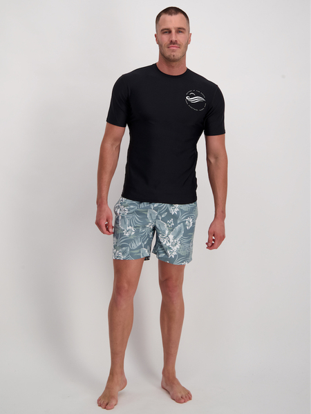 Mens Short Sleeve Relaxed Fit Rash Vest