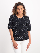 Womens Puff Sleeve Printed Top