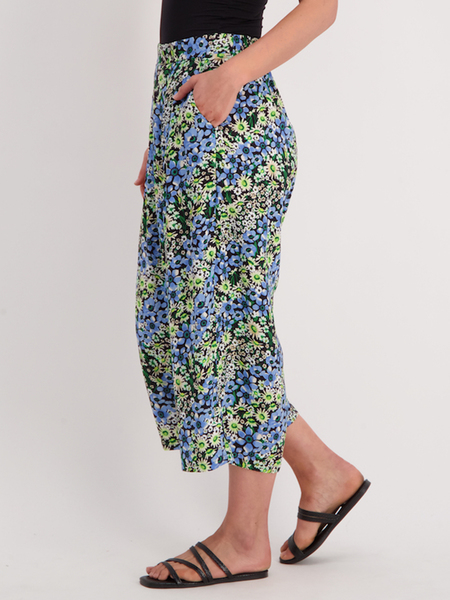Womens Printed Culotte With Pockets