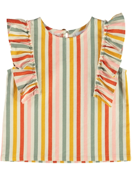 Toddler Girls Linen Rich Woven Top