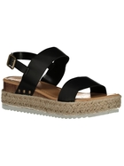 Womens Espadrille Wedge Heel Sandal