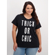 Womens Plus Placement Print Cotton Tee