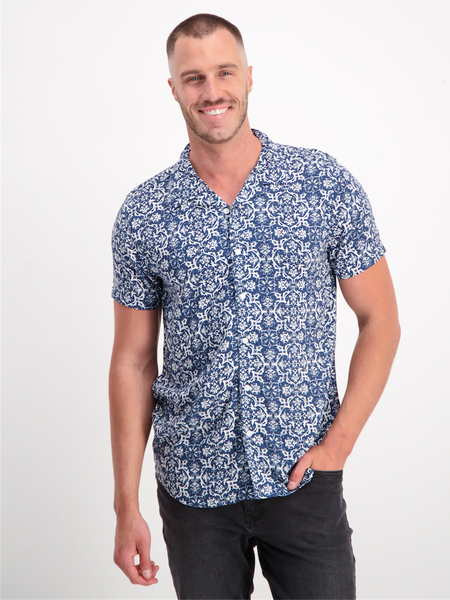 Mens Short Sleeve Viscose Shirt