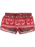 Girls Christmas Board Shorts