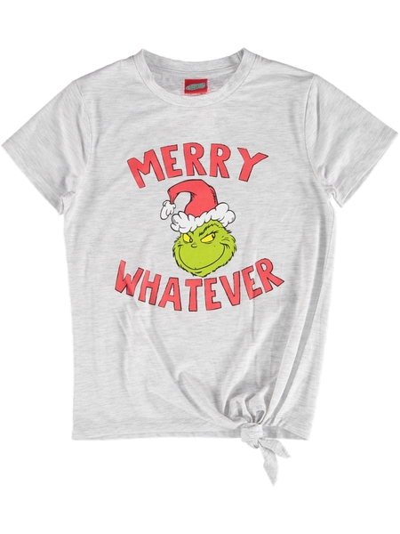 Girls Grinch Christmas T Shirt