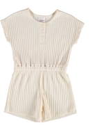 Toddler Girls Needle Out Rib Shortall