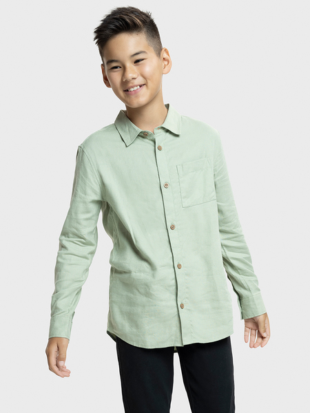 Boys Linen Rich Shirt