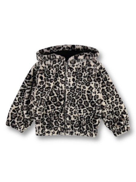 Girls Fluffy Animal Jacket