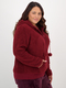 Womens Plus Fluffy Sleep Jacket