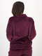 Womens Funnel Neck Fluffy Sleep Top