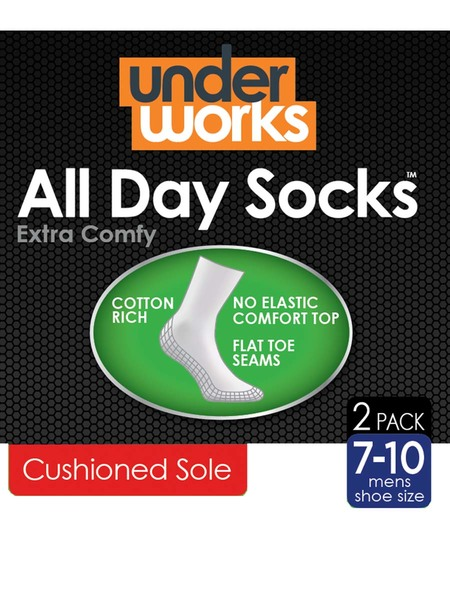 Underworks 2Pk All Day Socks