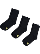 KIDS UNDERWORKS COLOUR CODED 3PK CREW SOCKS