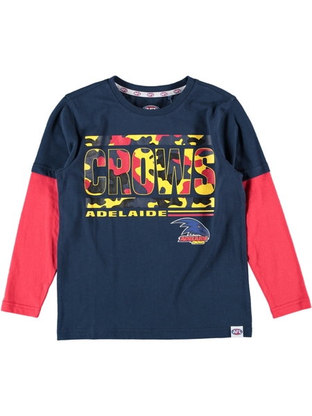 Crows AFL Youth Long Sleeve Tee
