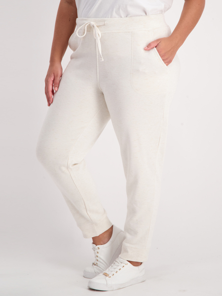 Womens Plus Space-Dye Trackpant