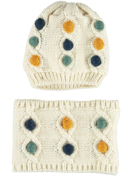 Toddler Girl Beanie And Snood Set