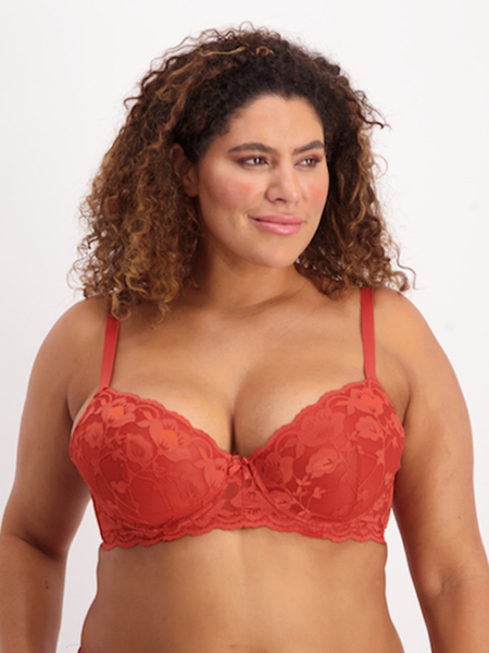 Full Figure 2Pk Ruby Bras