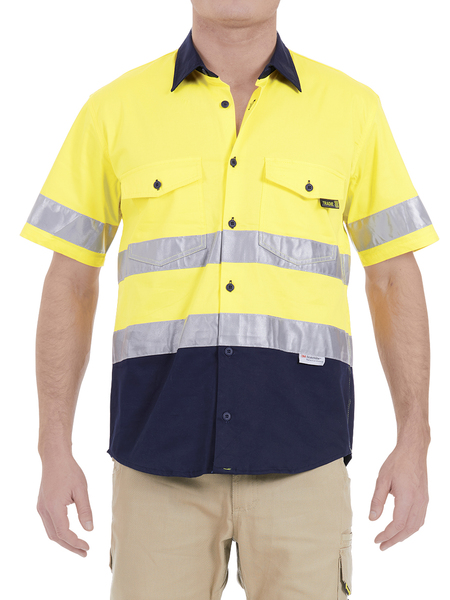 Tradie Short Sleeve Hi Vis Shirt With 3M Reflectiv