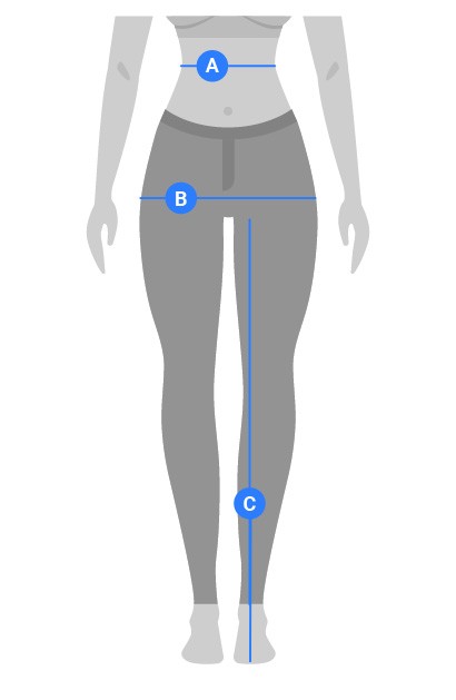 Womens Pants, Shorts and Skirts Measuring Guide